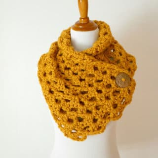 Autumn Morning Button Cowl by Fiber Flux