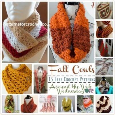 Crochet Fall Cowls ~ 15 FREE Crochet Patterns form Around the Web