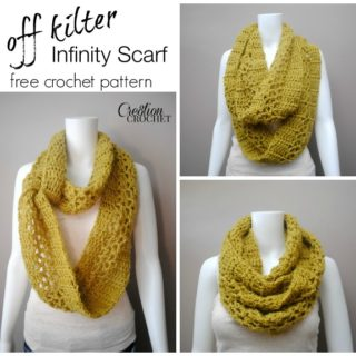 Off Kilter Infinity Scarf by Cre8tion Crochet