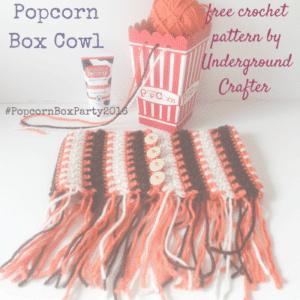 Popcorn Box Cowl by Underground Crafter