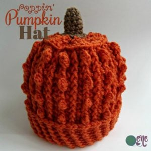 Poppin' Pumpkin Hat ~ FREE Crochet Pattern Adjustable To Any Size