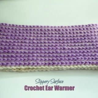 Slippery Surface Crochet Ear Warmer ~ FREE Crochet Pattern