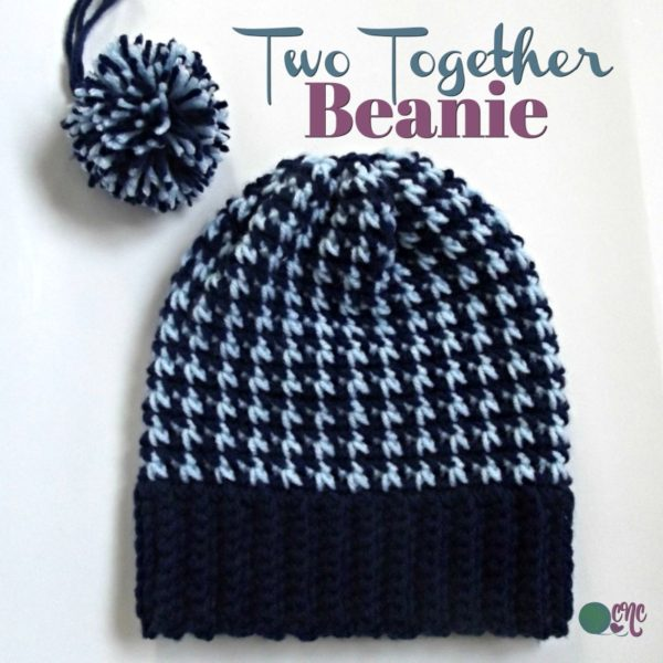 Two Together Beanie ~ FREE Crochet Pattern