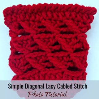 Simple Diagonal Lacy Cabled Stitch