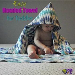 Easy Hooded Towel for Toddler ~ FREE Crochet Pattern