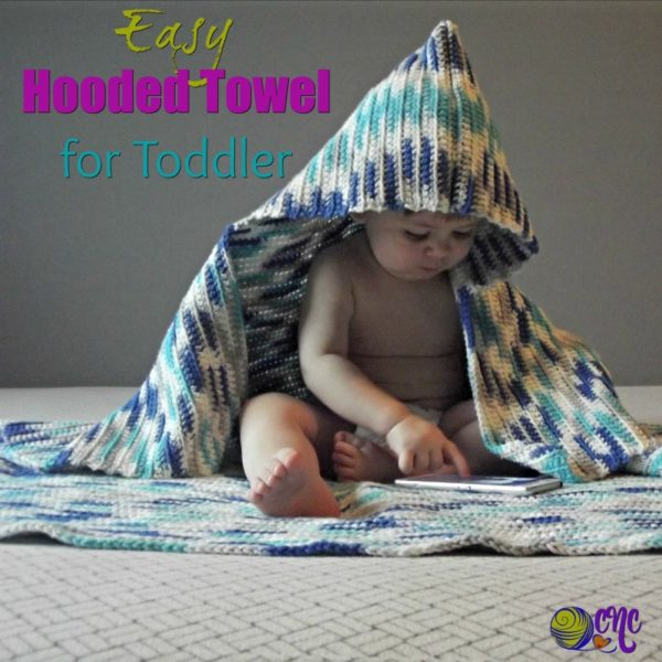 Easy Hooded Towel for Toddler ~ FREE Crochet Pattern