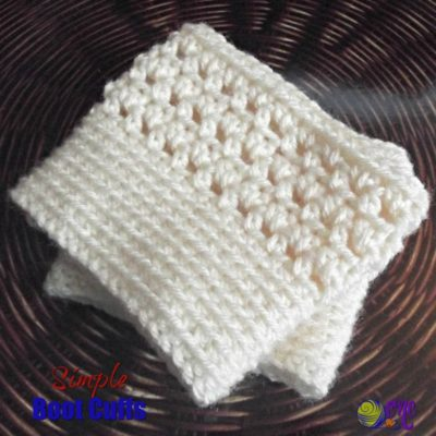Simple Boot Cuffs by CrochetNCrafts