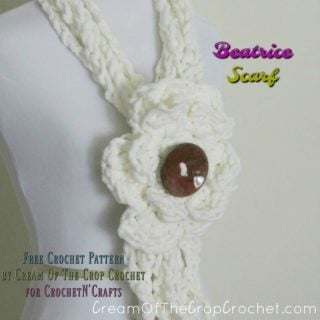 Beatrice Scarf by Cream Of The Crop Crochet