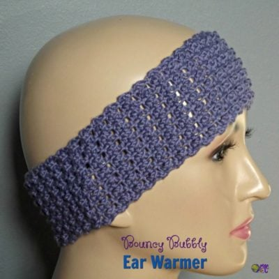 Bouncy Bubbly Ear Warmer ~ FREE Crochet Pattern
