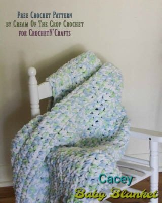 Casey Baby Blanket by Cream Of The Crop Crochet