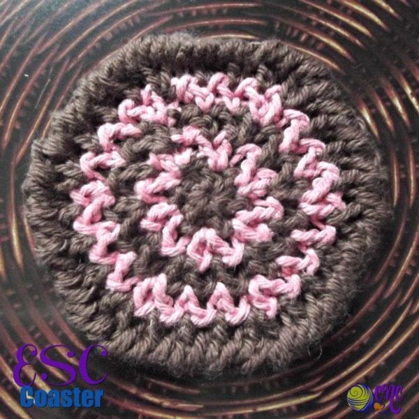 ESC Coaster ~ FREE Crochet Patten