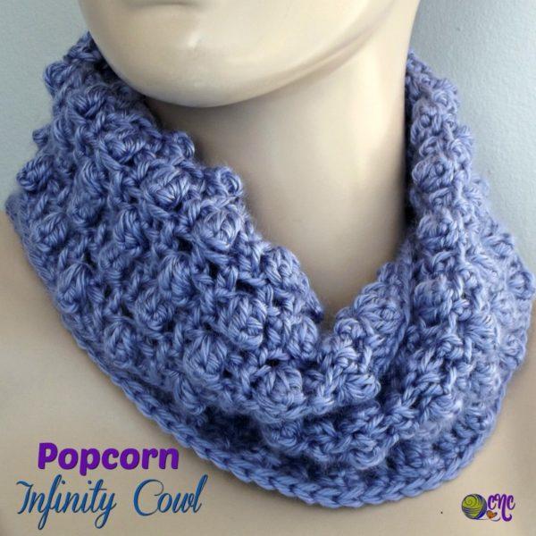 Popcorn Infinity Cowl ~ FREE Crochet Pattern