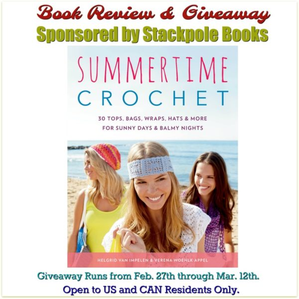 Cover Photo of Summertime Crochet along with Giveaway Details.