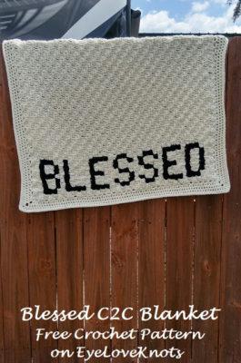 Blessed C2C Blanket pattern by EyeLoveKnots.