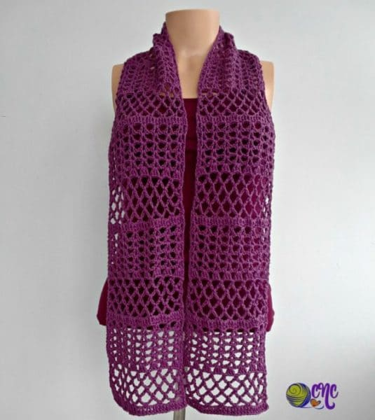 Summer Crochet Lace Scarf Crochetncrafts