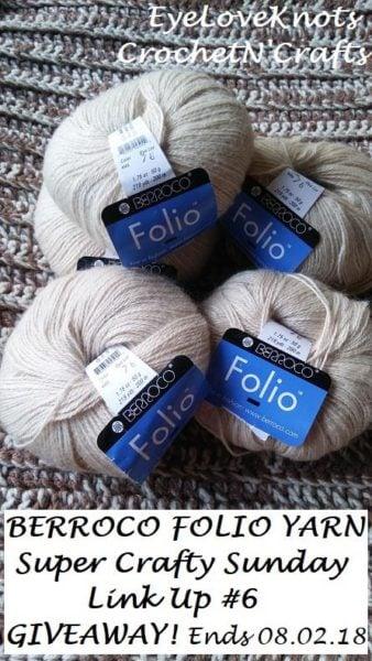 Berroco's Folio Yarn Giveaway Sponsored by EyeLoveKnots