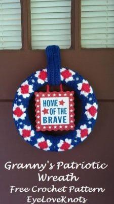 Granny's Patriotic Wreath Pattern by EyeLoveKnots.