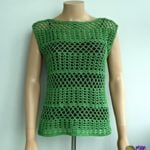 PDF pattern for the summer crochet lace top. It is shown here on a mannequin from the front.