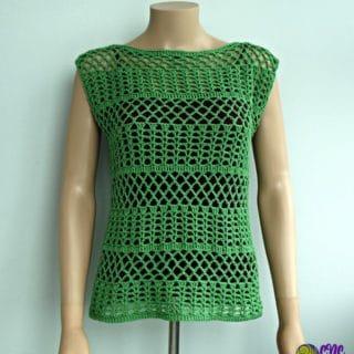 Summer Crochet Lace Top Pattern
