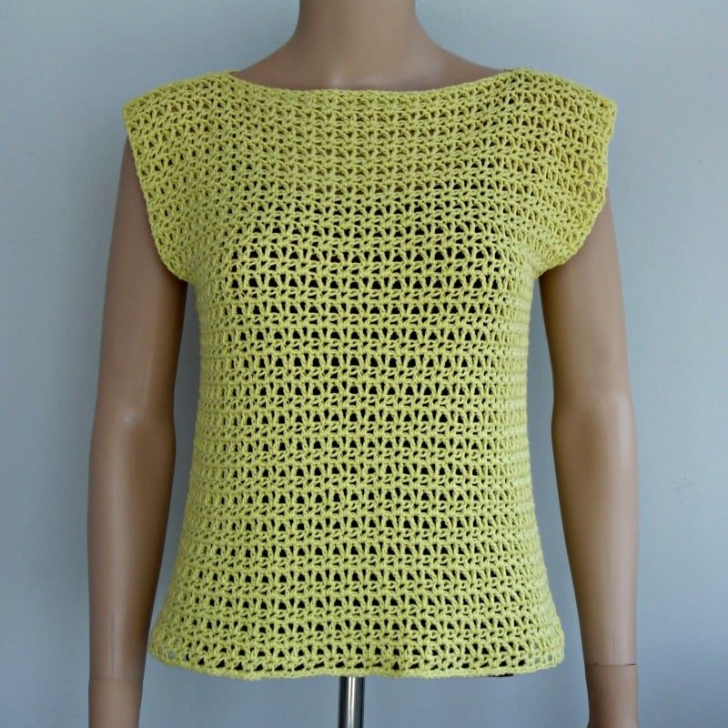V-Stitch Crochet Top Pattern