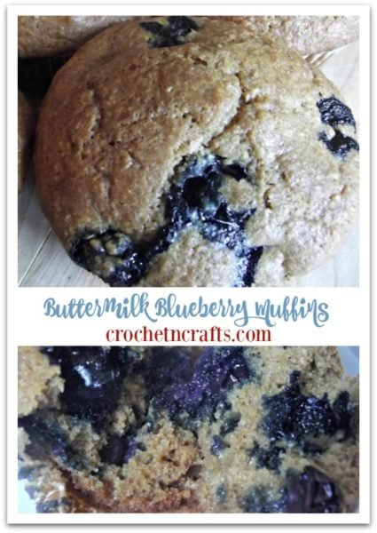 Buttermilk Blueberry Muffins recipe. They are moist and with just the right amount of sweetness you can enjoy these as a healthy treat whenever you please.
