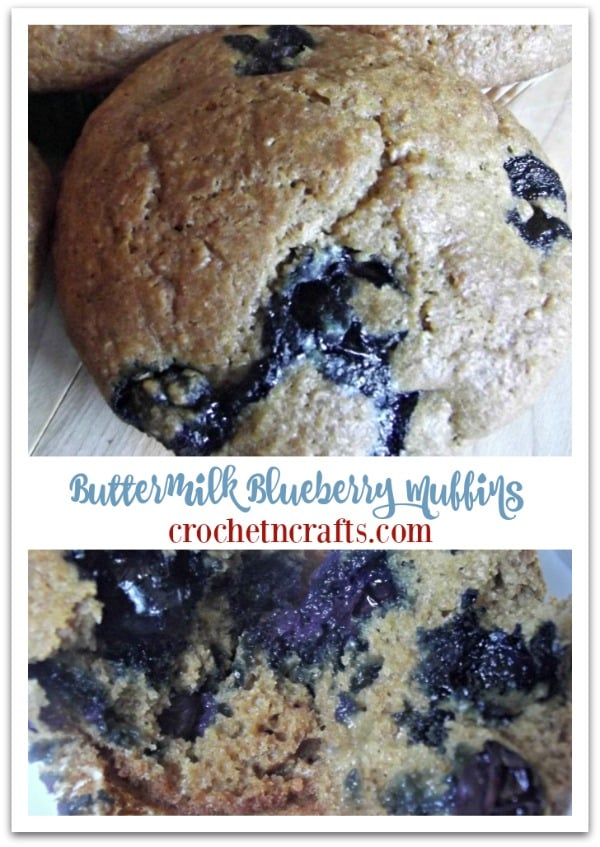 Buttermilk Blueberry Muffins Recipe. A healthy and delicious muffin recipe by crochetncrafts.com. #recipe #muffins #blueberry #crochetncrafts.com