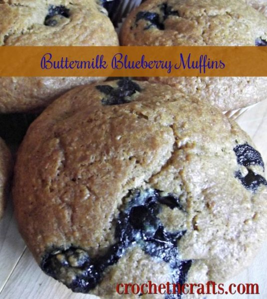 Rich buttermilk blueberry muffins recipe.