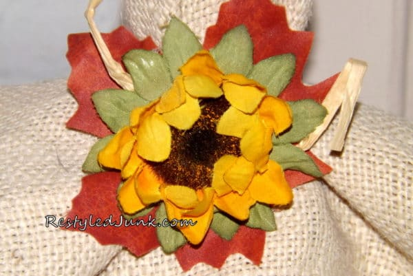 Add a Sunflower to Hatband.