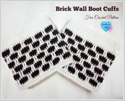 Brick Wall Boot Cuffs by Crochet For You