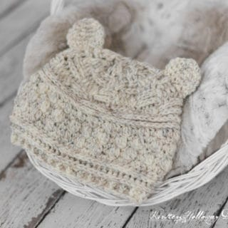 Bear Hugs Baby Beanie by Kirsten Holloway Designs