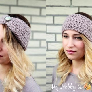 Chic Aran Headband / Ear warmer by My Hobby is Crochet