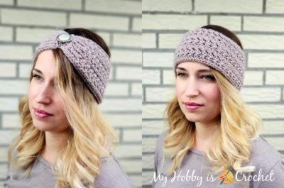 Chic Aran Headband / Earwarmer by My Hobby is Crochet
