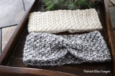 Chunky Crochet Ear Warmer by Maria's Blue Crayon