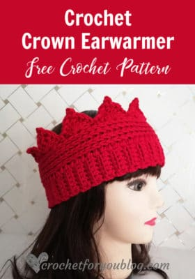 Crown Ear Warmer by Crochet For You