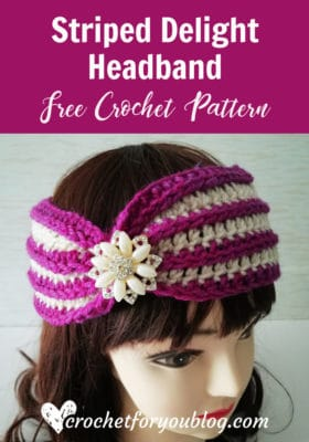 Super Delight Headband by Crochet For You