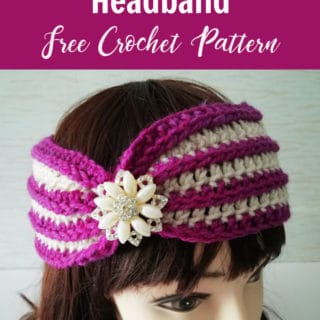 Striped Delight Headband by Crochet For You