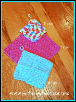 Washcloth With Pockets by Posh Pooch Designs