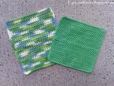 Basic Washcloth in 2 Sizes by EyeLoveKnots