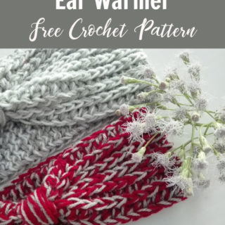 Easy Stashbuster Ear Warmer by Crochet For You