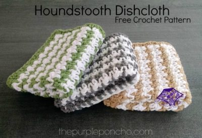 Houndstooth Dishcloth by The Purple Poncho