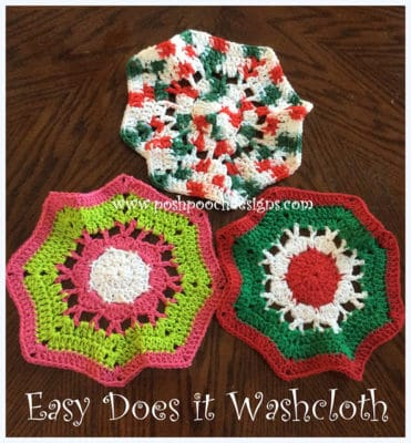 Easy Does It Washcloth by Posh Pooch Designs