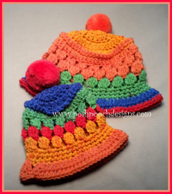 Tutti Frutti Baby Hat by Posh Pooch Designs