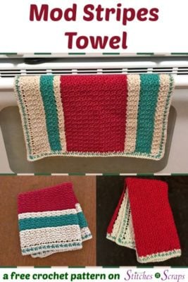 Mod Stripes Towel by Stitches n Scraps