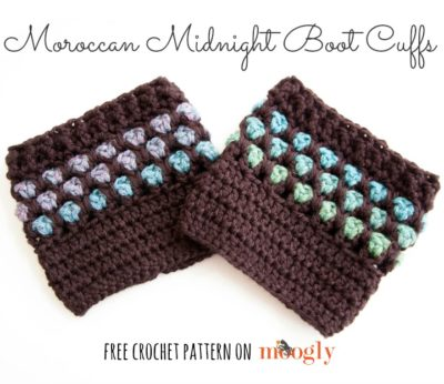 Moroccan Midnight Boot Cuffs by Moogly