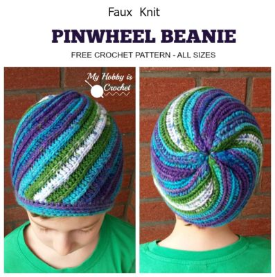 Pinwheel Beanie by My Hobby is Crochet