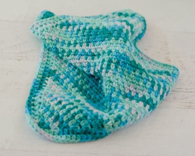 Seed Stitch Dishcloth by Crochet 365 Knit Too