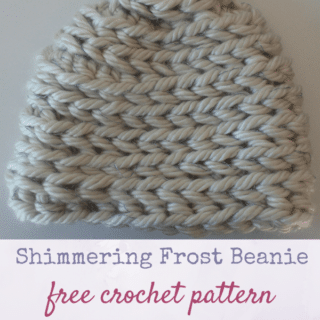 Shimmering Frost Beanie by Underground Crafter