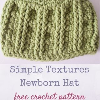 Simple Textures Newborn Hat by Underground Crafter