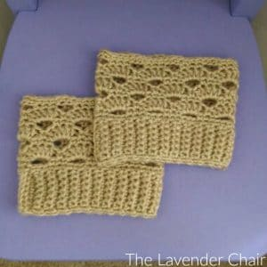 Stacked Shells Boot Cuffs by The Lavender Chair