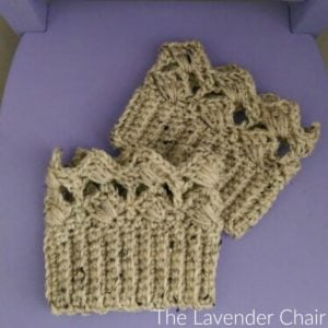 Textured Fans Boot Cuffs by The Lavender Chair